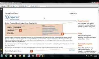CRC – How to read an Experian credit report