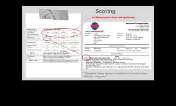 [PART 1] Screening Tenants: How to score a sample credit report