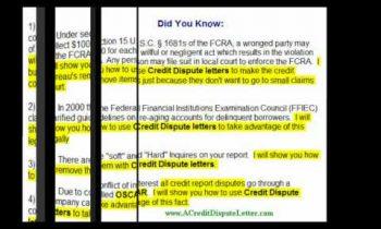 Free Credit Dispute Letter