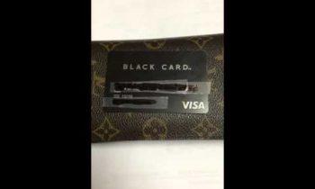 NEW VISA BLACK CARD STAINLESS STEEL CARBON